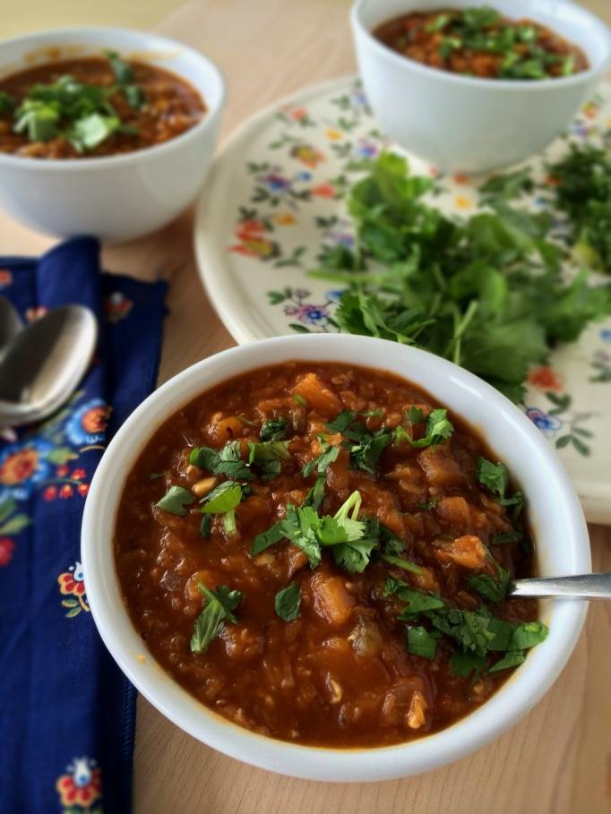 Red lentil butternut squash chili_2