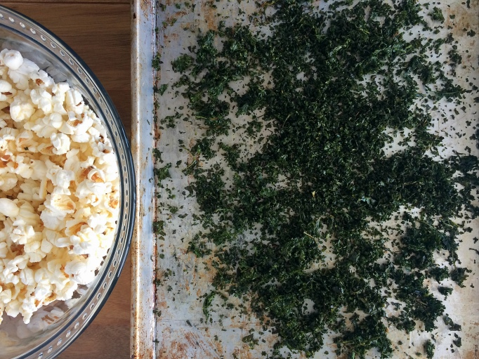 Kale dust and popcorn bowl