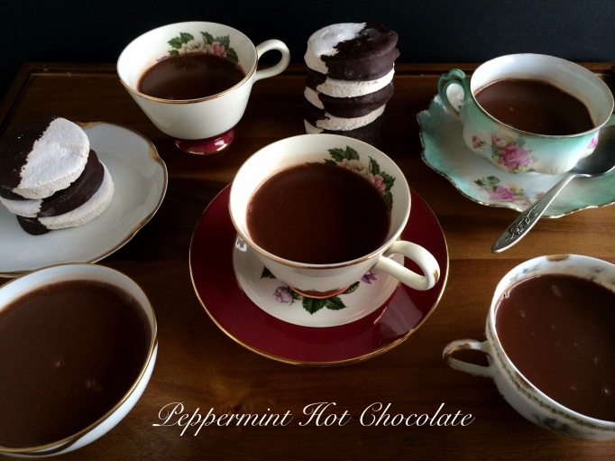 Peppermint Hot Chocolate by the Seasonal Veg Head