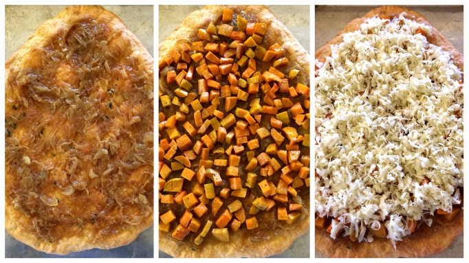 Pizza_caramelized onions sweet potatoes fontina cheese