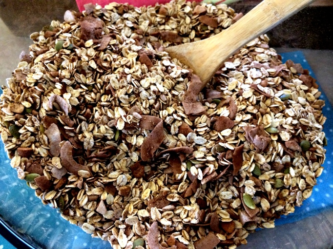 dry mixed chocolate espresso granola