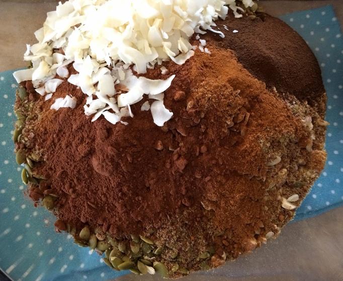 dry chocolate espresso granola