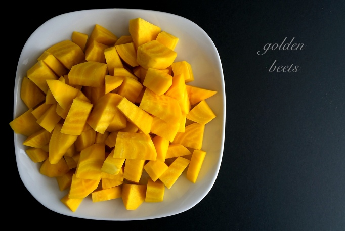 golden beets chopped