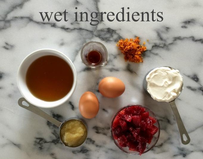 blood orange & honey bread wet ingredients