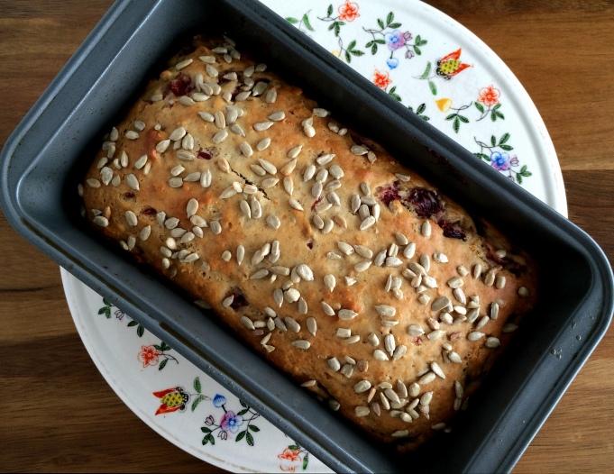 Blood Orange & Honey Bread with Sunflower Seeds