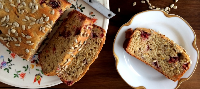 Blood orange & honey bread sliced
