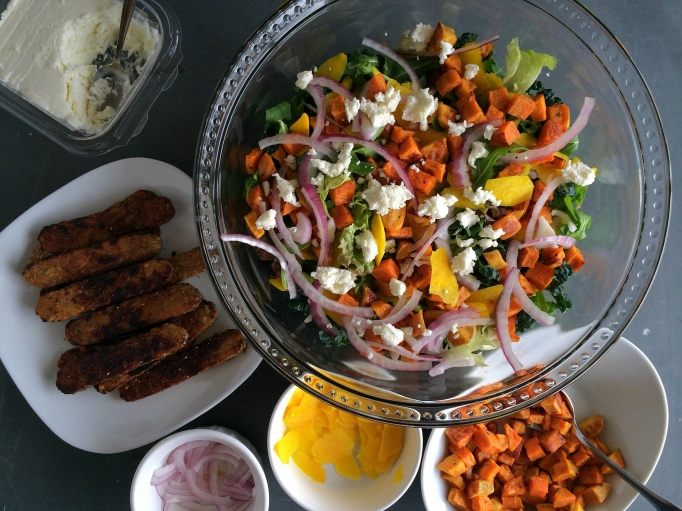 salad with fixins