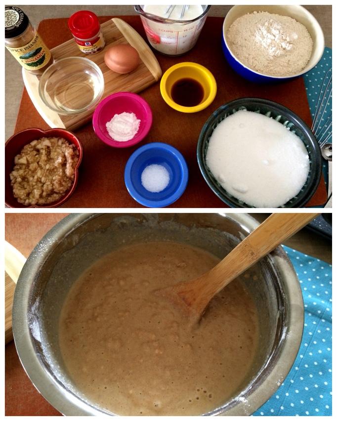 glazed pear donut batter ingredients
