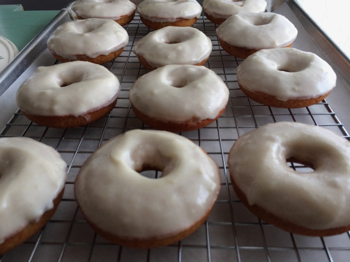 freshley glazed pear donuts