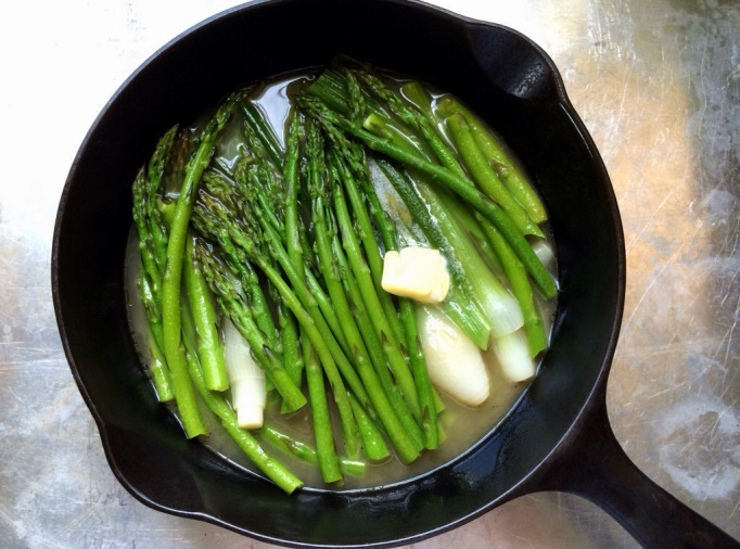 Braised Asparagus & Spring Onions