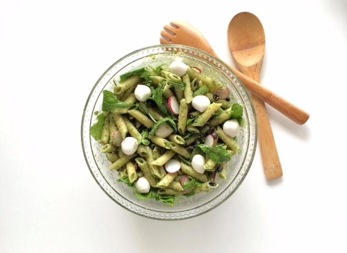 Spring Veggie Pasta w/ Cilantro Pesto