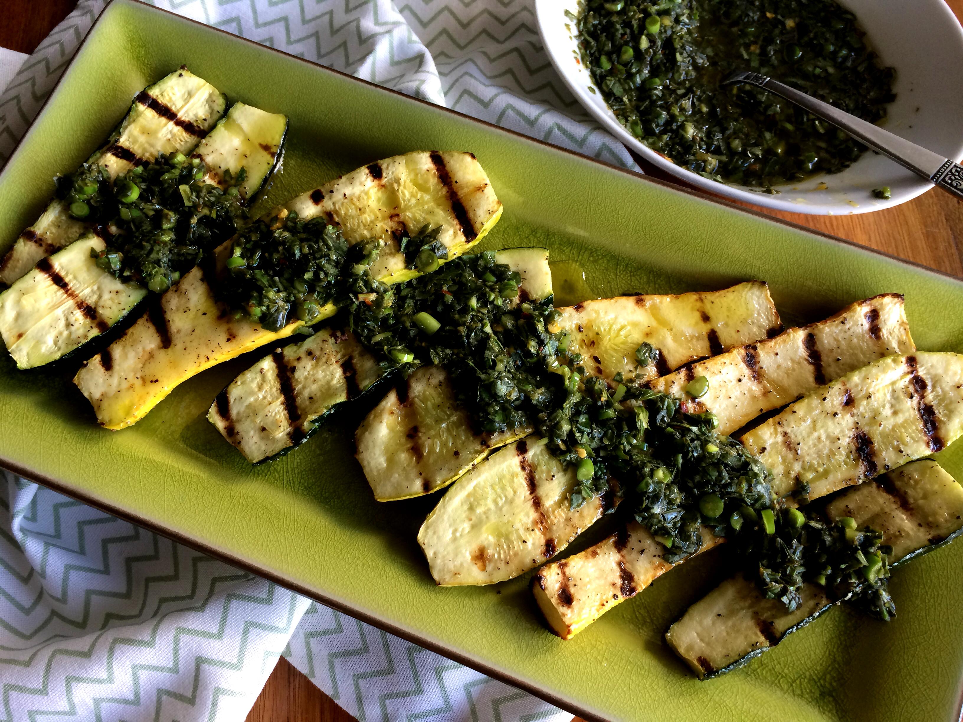 picture Grilled Zucchini with Gremolata