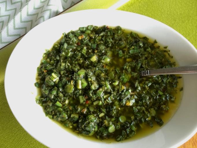 Grilled Summer Squash w/ Basil - Mint Gremolata