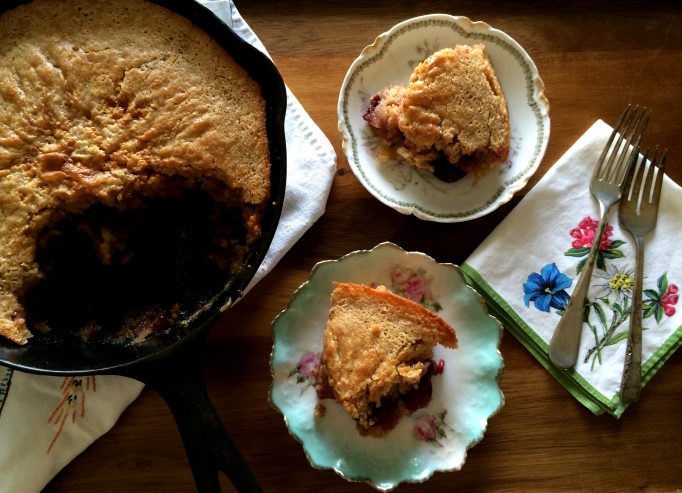 Cast-Iron Cherry Cobbler
