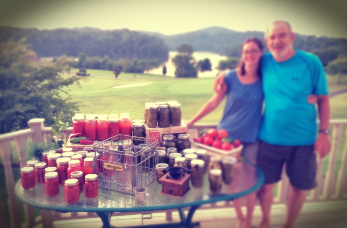 Canning with dad
