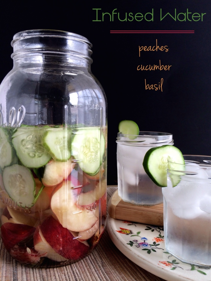 Peach Cucumber Basil Water