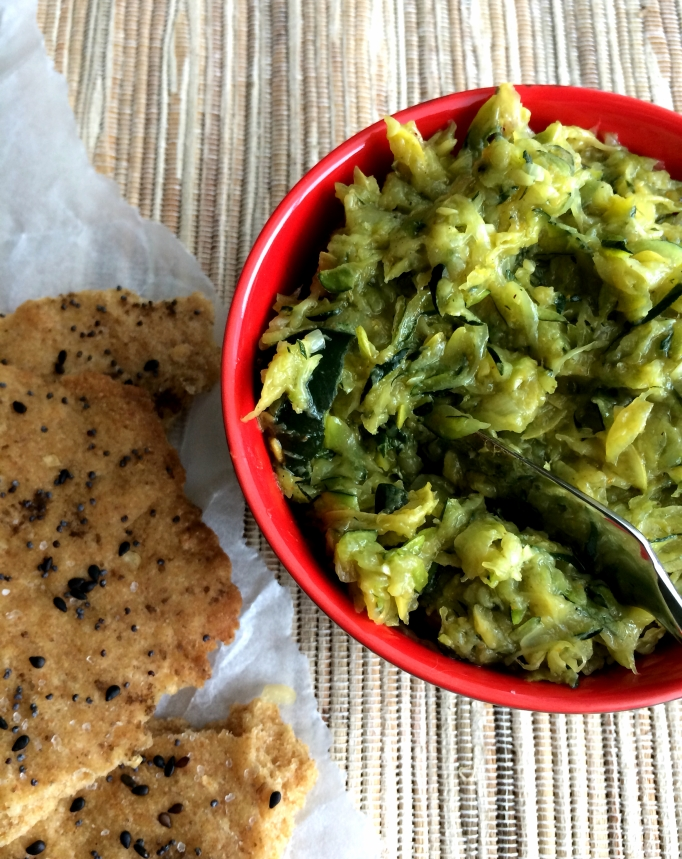 Everything Flatbread with Curried Zucchini Butter