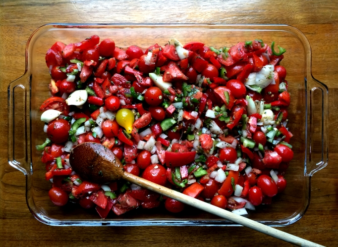 Roasted Tomatoes & Peppers