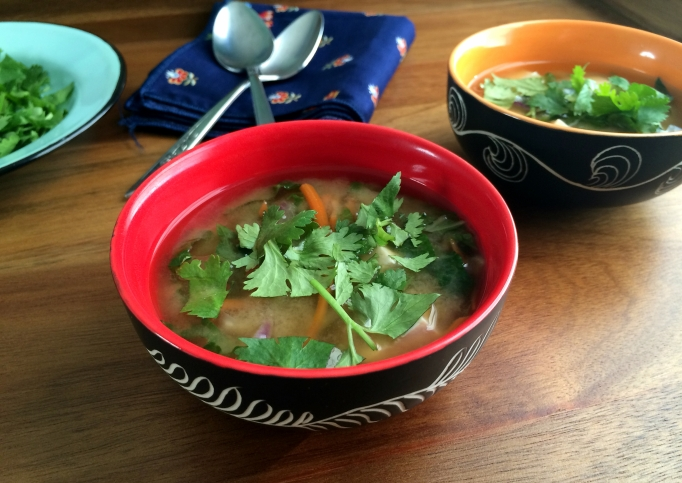 Veggie-loaded Miso Soup