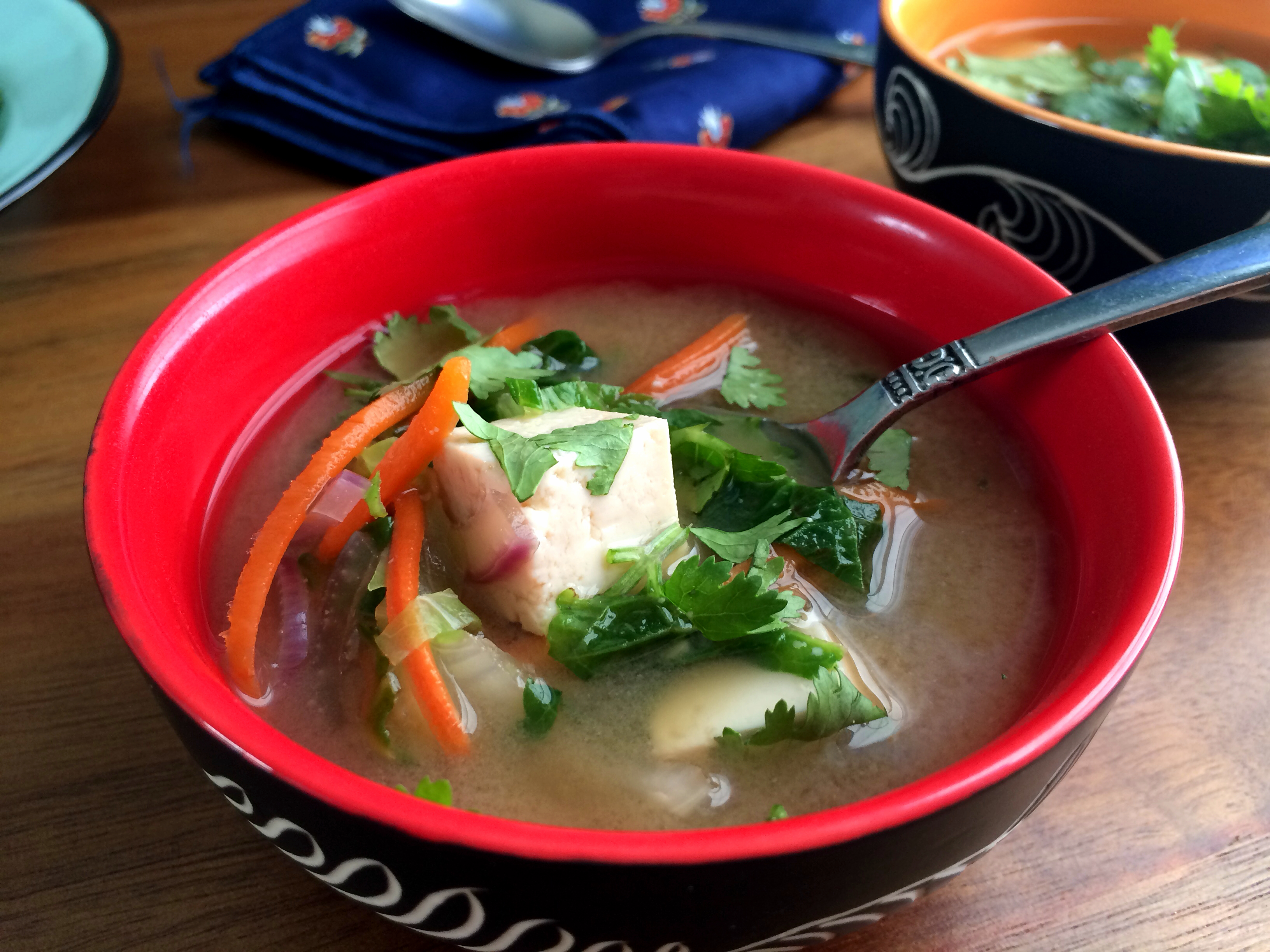 Meatless Monday: Loaded Miso Soup | Ups And Downs Of A Yoga Mom