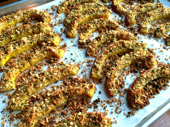 Parmesan & Herb Crusted Pumpkin Slices