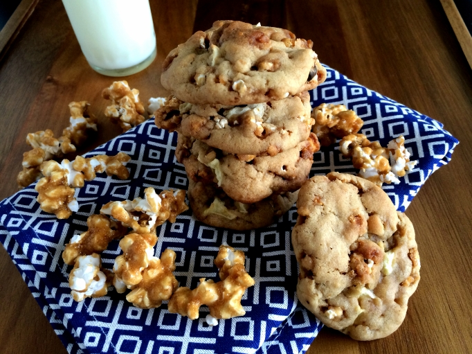 Salted Caramel Corn & Apple Cookies