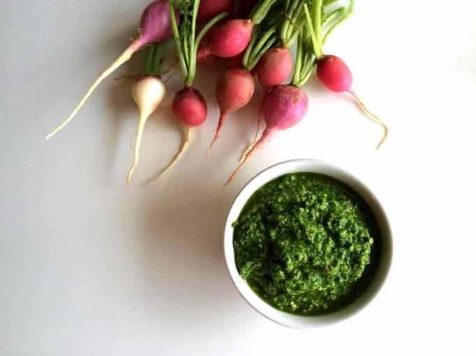 Radish Top Pesto