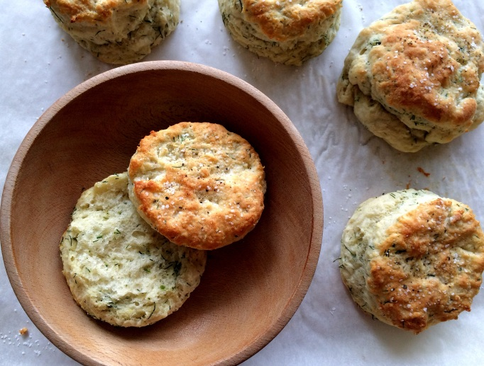 Savory Dill Yogurt Biscuits | the Seasonal Veg Head