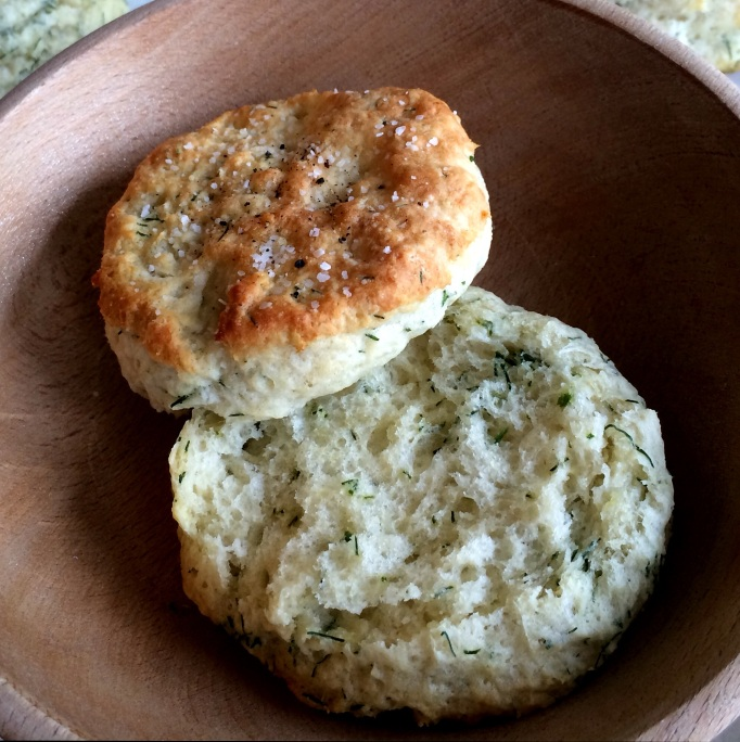 Savory Dill Yogurt Biscuits