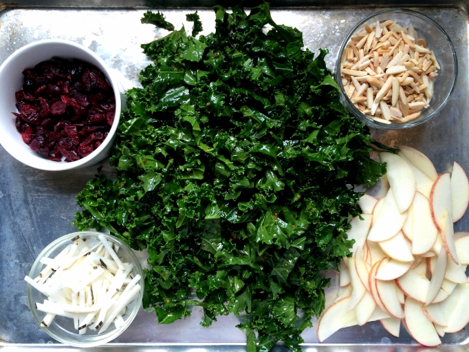 Apple Kale Salad with Curry Vinaigrette