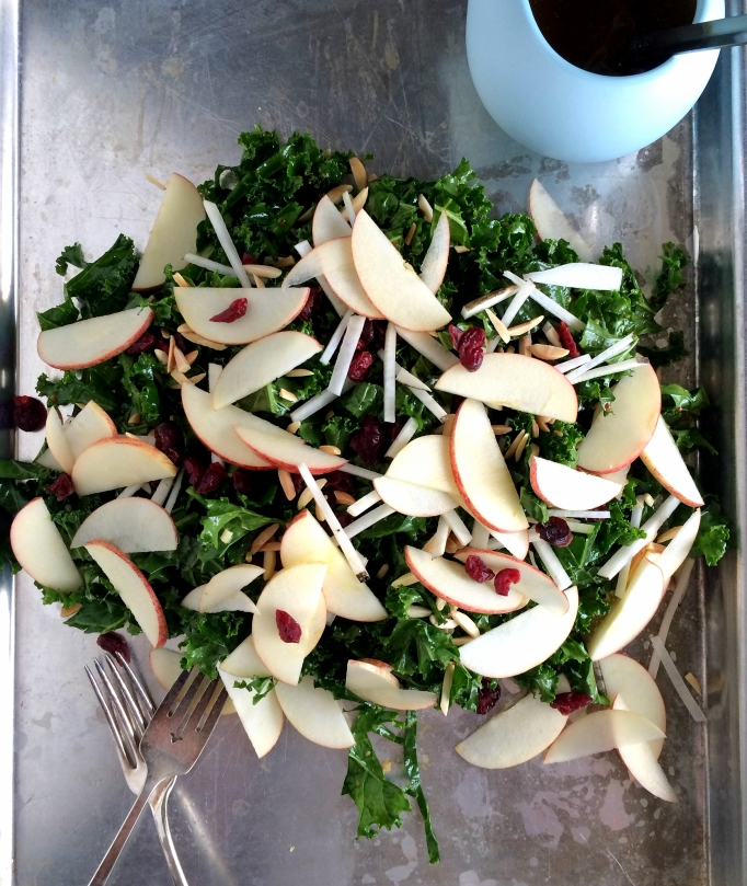 Apple Kale Salad with Curry Vinaigrette