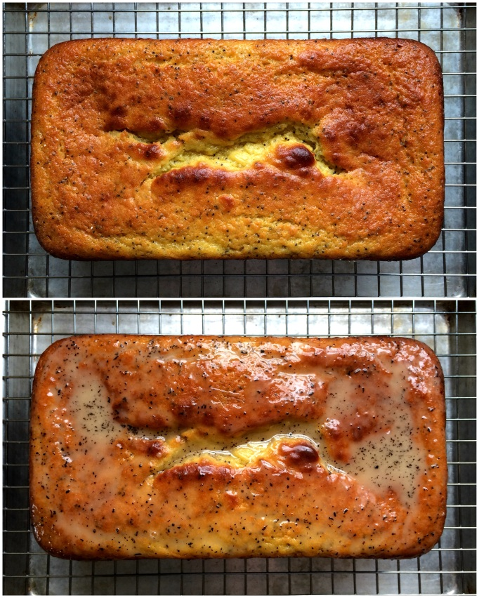 Clementine Poppy Seed Pound Cake with Earl Grey Glaze