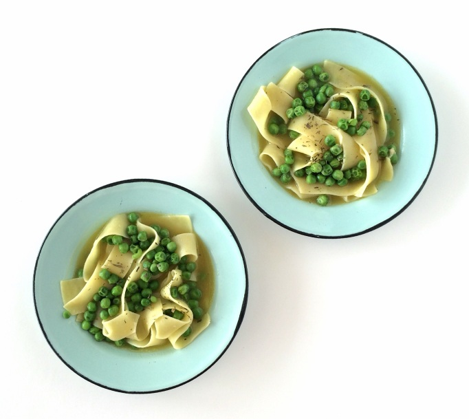 Pasta & Peas in Parmesan Broth