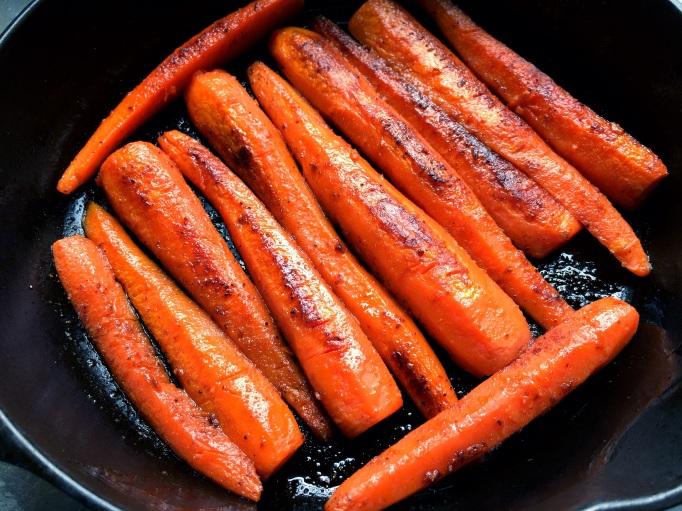 Spicy Pan-Roasted Carrots
