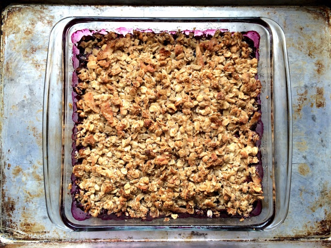 Healthier Blueberry Crisp
